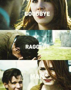 """Raggedy Man, goodbye!"" S07E05 - The Angels Take Manhattan #doctorwho"