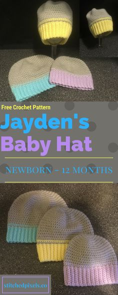 This is the first piece in my new 3 part Jayden's Baby Set of crochet patterns. Stay tuned for the booties pattern and diaper cover pattern coming in the next few weeks.