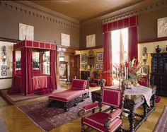 George Vanderbilt's bedroom at Biltmore Estate in Asheville, North Carolina, US.
