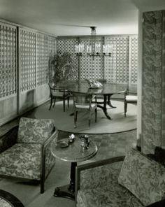 (interieur) Fotograaf William Pahlmann 1953 // hier ga je zien dat ruimtes bij elkaar betrokken worden. //