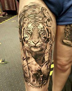 Beautiful tiger tattoo 😍🐯