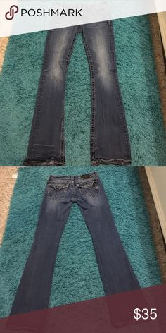 Miss Me jeans My favorite pair of Miss Me's ever. Worn quite a few times but still in good condition Miss Me Jeans Boot Cut