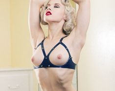 Wrath Underwired Open Cup Studded Latex Bra