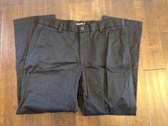 Dockers Men D2 Flat Front Black Khaki Pants Size 36x30 #DOCKERS #KhakisChinos