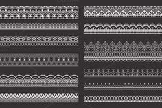 Lace pattern brushes for Adobe Illustrator