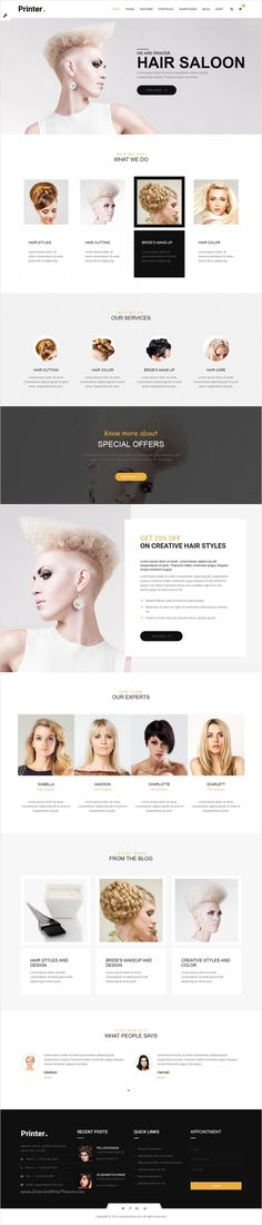 Printer is beautifully design versatile #hairstyle #saloon #bootstrap HTML template for stunning #website with 60+ multipurpose homepage layouts download now➩ https://themeforest.net/item/printer-responsive-multipurpose-html5-template/17365545?ref=Datasata