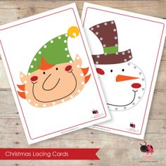 Christmas Lacing Cards Set | Busy Little Bugs