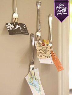 Miren qué linda idea para recordar nuestros pendientes. #diy #cocina #PrincesasDe40