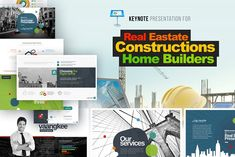 Real Estate/Construction Keynote by PixWork on @creativemarket