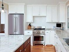 Latest Modern White Quartz Kitchen Countertops White Kitchens With Quartz for Home Kitchen