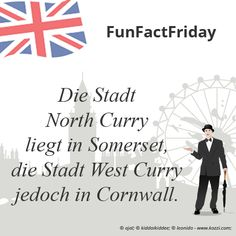 #FunFactFriday bei THE BRITISH SHOP: Die Stadt North Curry liegt in Somerset, die Stadt West Curry jedoch in Cornwall.
