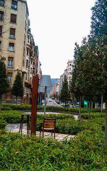Kleiner Park in Bilbao, Nordspanien