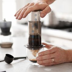 The fast and convenient way to make a rich cup of coffee without the bitterness.