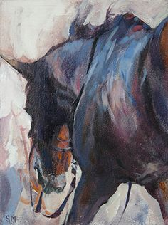 Washdown Reflections by Sally Martin Oil ~ 8inch x 6inch