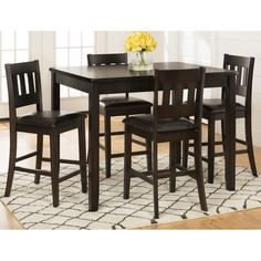 Found it at Wayfair - Barney 5 Piece Counter Height Pub Table Set