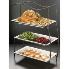 3 Tier Wrought Iron Rectangular Stand (IS17)