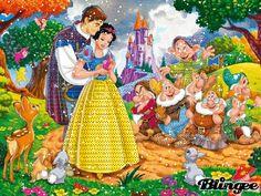 Walt Disney Princess Snow White and the 7 Dwarfs. _ JUANITA PEACHLAND ♡ ♡ ♡ ♡ ♡