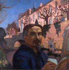 Maurice Denis   Autoportrait devant le Prieuré, 1921