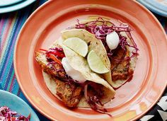 Grilled Chipotle Pork Tacos with Red Slaw-Healthy Summer Grilling Recipes | PureWow National