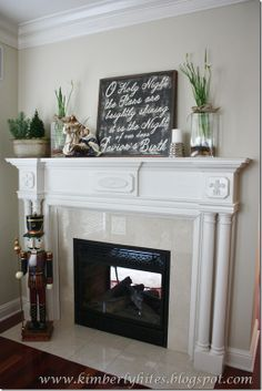 Sherwin Williams Wool Skein chalkboard sign for Christmas as a mantel decoration. Interior Paint Colors, Paint Colors For Home, Interior Design, Room Colors, House Colors, Christmas Mantels, Christmas Decorations, Antique Interior, My Living Room