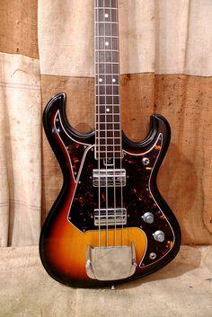 '68 National Sunburst Bass Guitar #guitar #bass #vintage #gear #guitarporn