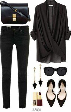 Zeitlose schwarze und weiße Outfits – Frauenmode Timeless black and white outfits Look Fashion, Winter Fashion, Womens Fashion, Fashion Black, Trendy Fashion, Fashion Outfits, Ladies Fashion, Feminine Fashion, Fashion Trends