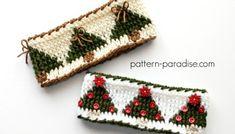 Tutorial: Twisted Single Crochet (SC) Stitch | Pattern Paradise Christmas Tree Headband, Crochet Christmas Hats, Christmas Crochet Patterns, Holiday Crochet, Halloween Headband, Free Crochet, Crochet Hats, Crochet Headbands, Cloth Headbands