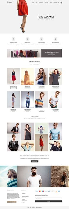 Fashion, red, web design, ecommerce, layout in Web Design