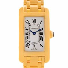Women's Certified Pre-Owned Watches - Cartier Tank Americaine quartz womens Watch W26015K2 Certified Preowned ** Learn more by visiting the image link.