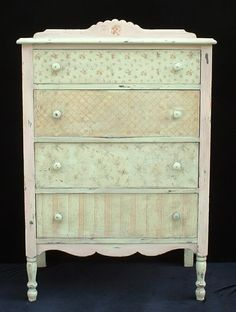 Shabby Chic'd Antique chest of drawers.