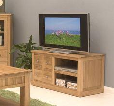 mobel oak four drawer television cabinet cor09a