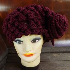 Strawberry Couture Hat Crochet Beret Hat with by strawberrycouture, $45.00