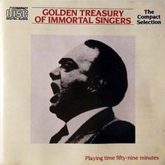 "Paul Robeson, ""Golden Treasury of Immortal Singers,"" album cover, 1987"
