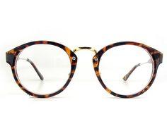 1920s Vintage oliver retro eyeglasses 080 Leopard round frames kpop peoples #Unbranded