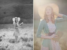 Ruche lookbook. Last one :). Love everything about this! light, hat, book.. gorgeous model!