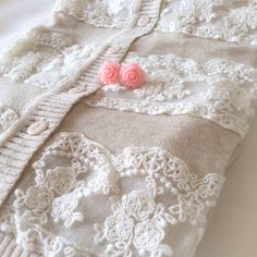 Sweet cardigan and floral earrings