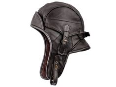 Genuine leather brown pilot aviator/ motorcycle cap by HatterShop, $56.00
