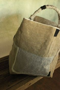 mm..! a japanese bag with slow stitch.