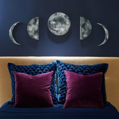 No one will know that these phases of the moon DIY wall art start with Styrofoam.
