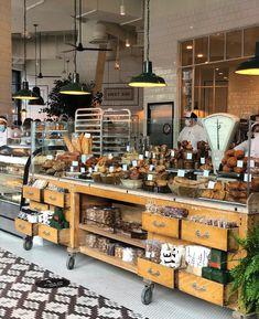 Bakery Menu, Bakery Cafe, Bakery Ideas, Cantonese Restaurant, Restaurant Bar, Lamb Sandwich, Bakery Display, Bread Display, Garage Cafe