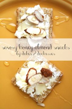 savory honey almond snacks