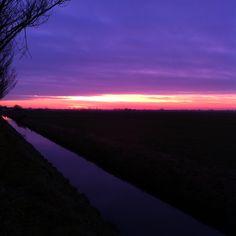 #100happydays day 69. Prachtige zonsopkomst vanochtend in de Beemster!