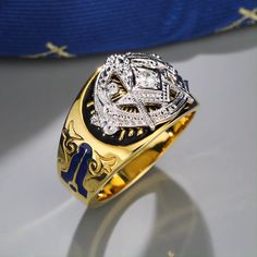 Antique Art Deco Vintage Jewellery White Gold Dress Ring with White Sapphires jewelry ring size R - Custom Jewelry Ideas Mens Gold Bracelets, Mens Gold Rings, Rings For Men, Luxury Jewelry, Custom Jewelry, Vintage Jewelry, Zapatillas Puma Ferrari, Men's Jewelry Rings, Male Jewelry
