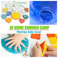 At-Home Summer Camp - DIY summer camp at home! Make your own backyard summer camp with these fun summer camp ideas! #summerfun #summercamp #diycamp #campmom #summeractivities