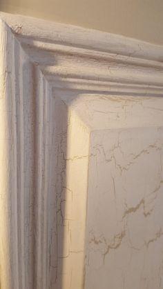 Even closer look at Porter's Crackle Medium on a headboard Vintage Furniture, Closer, Picture Frames, Medium, Antiques, Painting, Inspiration, Decor, Biblical Inspiration
