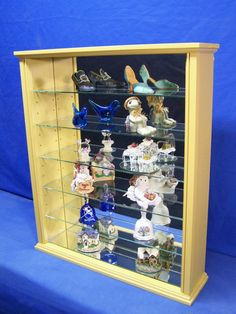 Items similar to Wood Glass Wall Curio Cabinet Display on Etsy Wall Curio Cabinet, Curio Cabinets, Liquor Cabinet, Shelf Display, Wood Glass, Custom Woodworking, Storage, Etsy, Furniture