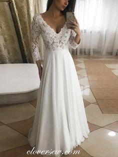 Chiffon Wedding Gowns, Lace Wedding Dress With Sleeves, Black Wedding Dresses, Long Sleeve Wedding, Designer Wedding Dresses, Elegant Dresses, Simple Dresses, Sexy Dresses, Dress Wedding