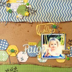 Little Nugget Creations: My Scraps Sketch #11 - {hello} Sweet Paige