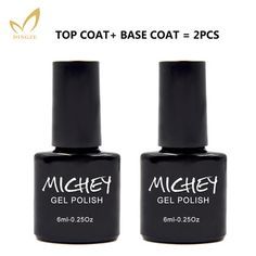 MICHEY Eco-friendly Transparent Clear Nail Primer Vernis Semi Permanent Base Gel Top Coat Soak Off Led Lamp Gel   Price: 2.53 USD