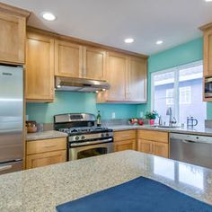 Teal Kitchen Design, Pictures, Remodel, Decor And Ideas Part 61